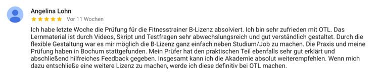 Standort Bochum Bewertung Angelina