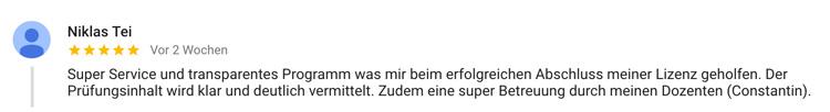 Fitnesstrainer Ausbildung Bochum Bewertung Niklas