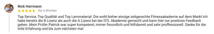 Standort München Online Trainer Lizenz Bewertung