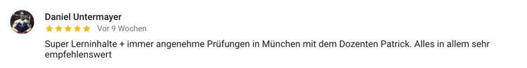 Standort München Bewertung Daniel