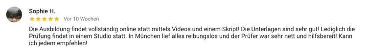 Online Trainer Lizenz München Bewertung